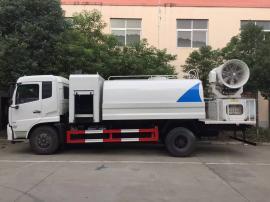 东风天锦10立方环保抑尘车,煤矿水泥厂专用降尘车喷雾车