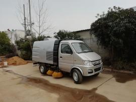 长安汽油机小型路面清洁车,道路扫路车