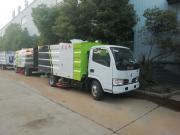东风小多利卡5立方道路清扫车,水泥厂洗煤厂专用吸尘车