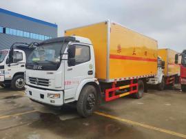 4.14米废机油厢式运输车/东风多利卡D9杂项危险品厢式运输车