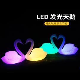led天鹅造型灯户外景观庭院灯发光夜景亮化仿真动物装饰灯