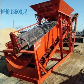 滚筒筛震动筛沙机可移动 龙鑫机械定制生产