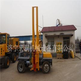 护栏立柱打桩机 液压护栏钻孔机 装载式护栏打桩机