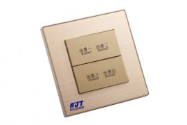 4键可编程面板智能照明系统4键轻触面板信息面板