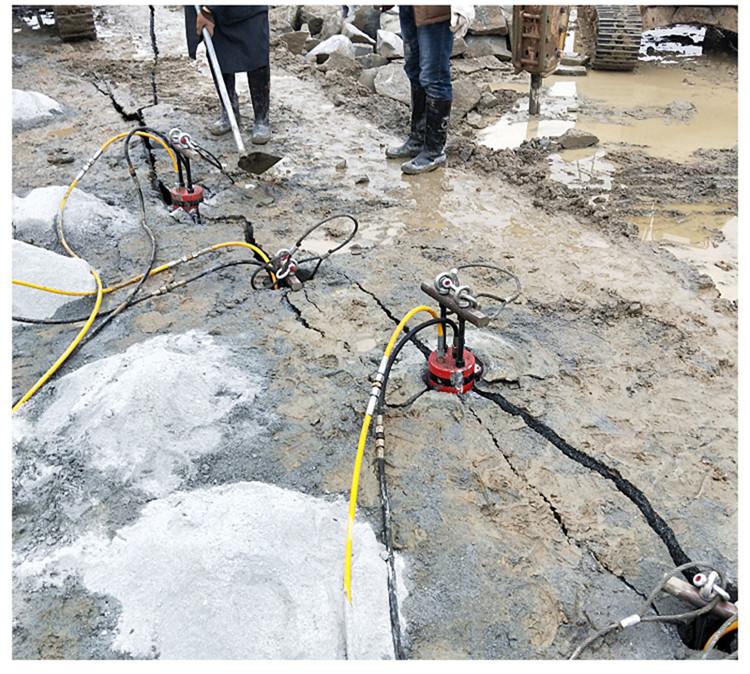 桩基岩石破除液压劈石机