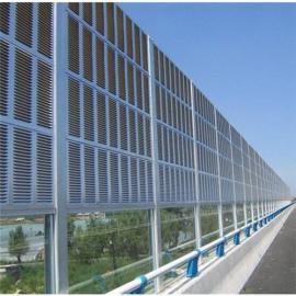 高速公路隔音屏障 公路透明声屏障道路金属百叶孔隔音墙护栏
