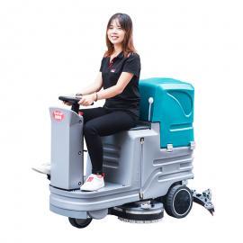 振瑞斯电动洗地机 驾驶式刷地机 商场用电动拖地机
