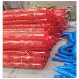 pvc塑筋增强软管粉尘木屑物料输送软管纺织机械风管