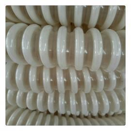 PU塑筋增强软管 耐磨抽料软管 白色塑料骨架螺旋管