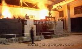 12吨串联谐振一拖二中频熔炼炉