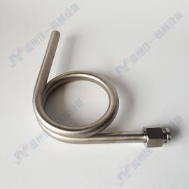 90度压力表弯管(一头焊接一头活动内螺纹) L型压力表缓冲管