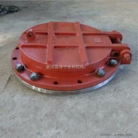 污水处理 管道排水铸铁拍门 下水道防倒灌止回阀拍门