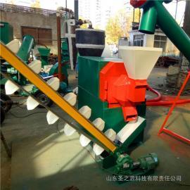 圣之源 玉米秸秆颗粒饲料 颗粒饲料机器的视频