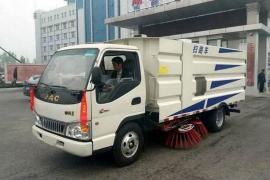 江淮道路清扫车,粉煤厂矿场水泥厂扫路车工厂专用扫地车清洁车