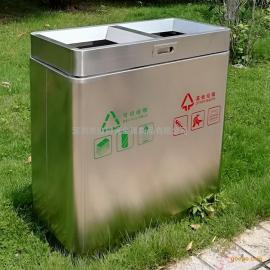 红树湾室内方形分类不锈钢垃圾桶果皮箱厂家