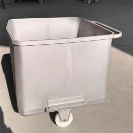 304不锈钢标准桶车肉料车料斗车物料周转车屠宰厂用桶车