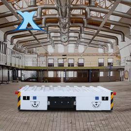 无轨道蓄电池搬运平车 电动遥控无轨平板车