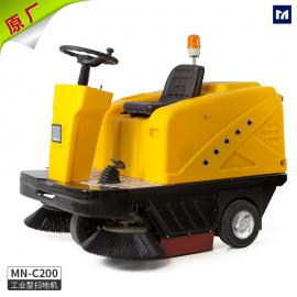 明诺扫地车C200 驾驶式电瓶扫地机 建筑工地扫地吸尘车 纯电动车