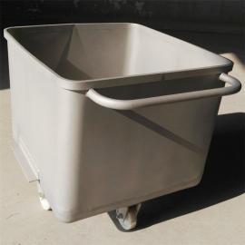 不锈钢物料周转车 肉桶车肉料车 肉馅腌制桶车