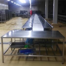 肉类分割输送线输送机传送带 屠宰厂猪牛羊肉类分割输送设备定制