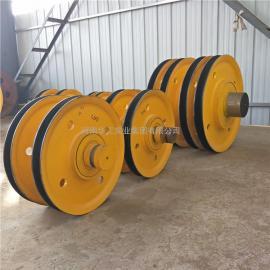 75吨起重机定滑轮组 双梁行车卷扬机港机用滑轮组 铸钢轧制滑轮