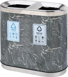 不锈钢分类桶,不锈钢双分类桶,不锈钢无烟灰缸垃圾桶