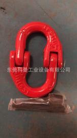 美国KOMAN万向旋转吊环原装欧式双环扣吊点吊带双环扣索具配件