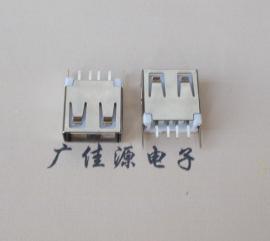 USB 接口A母立式180度直插13.7mm/15.0mm平口