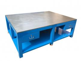 工厂钢板钳工桌,利欣钢板台,模具维修台模房模具装配