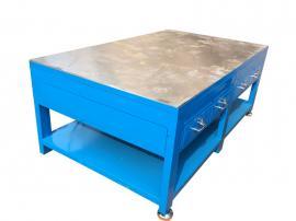 钢板加厚台面工作台,水磨模具工作桌,重型钳工桌
