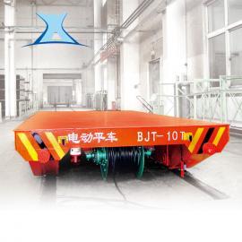 砖厂电动周转车 2吨轨道搬运车 蓄电池轨道平板车