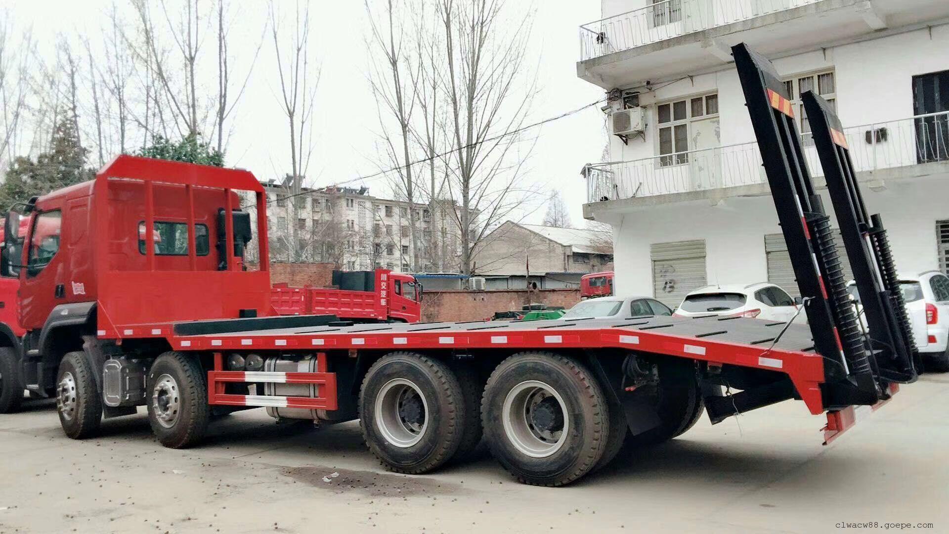 东风柳汽前四后八挖掘机拖车 可以分期付款
