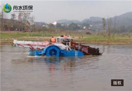 清漂船定做 一种方便收放的湖面保洁船 割草船视频