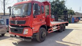 拉240挖掘机拖车东风平板车可分期平板拖车