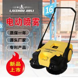 新款电动扫地车 吸尘喷雾多功能环保手推电动扫地机