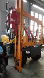 四缸公路护栏打桩机 zuan业生产装载式打拔钻一体机