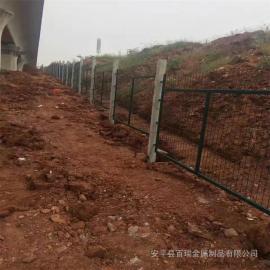 铁路安全防护栅栏|国标热浸锌浸塑防护栅栏|防护栅栏