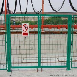 8002防护栅栏|国标热浸锌浸塑防护栅栏|防护栅栏底部加密网