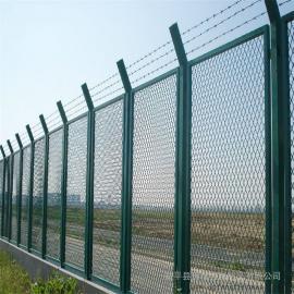斜坡防护栅栏|国标热浸锌浸塑防护栅栏|铁路围网