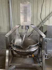 燃气加热行星搅拌锅,牛肉酱搅拌设备