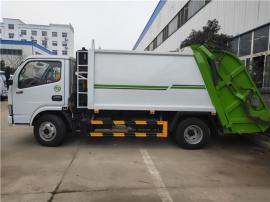 国六环卫10吨后装式压缩垃圾车定制-10方带摆臂压缩垃圾车订购