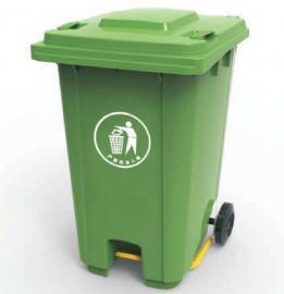 园林景区四分类塑料脚踩垃圾桶-100L塑料垃圾桶