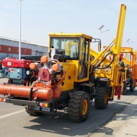 优质高速护栏打桩机 打桩速度快效率高 轮式护栏打桩机