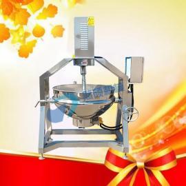 100L电加热火锅底料刮底搅拌行星全自动炒锅高粘度产品专用锅