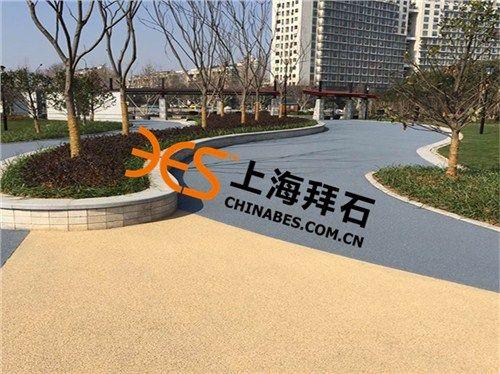 安亭彩色透水混凝土施工材料生产厂家拜石