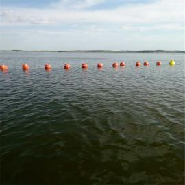 龙舟赛道专用塑料实心防水塑料双耳漂浮式浮球