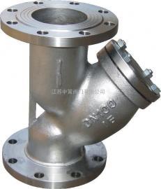 不锈钢法兰Y型过滤器 GL41W-16P GL41W-16R