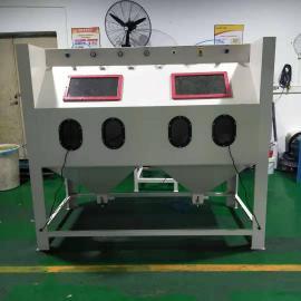 1010双工位手动喷砂机双工位双开门手动喷砂机环保箱式喷砂机