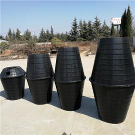 漏斗式双瓮化粪池 农村厕所改造 双瓮化粪池1.5立方粪桶塑料