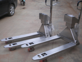 SCS-EXZ1.5T防爆宽叉手动搬运叉车称-本安型防爆手动搬运叉车秤